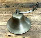 Vintage WWII Brass Marine Ship Bell Wall Mount Maritime Navy Antique