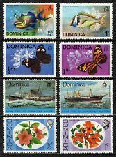 Dominica 1975 Sc#421/22-427/28-434/35-454/55 Fish Butterflies Lot of 8 Mint MNH