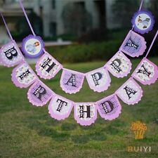 1x Sofia The First Banner Bunting Flag. Party Supplies Lolly Loot Bag Room Deco