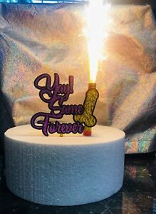 Bachelorette wedding Cake Topper with Candle FREE SHIPPING!