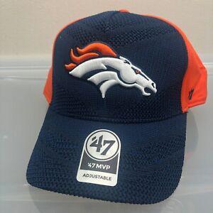 Denver Broncos 47 Brand Hat. New NWT Blue Adjustable Strap Cap. NFL Football