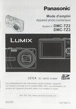 Panasonic DMC-TZ2 DMC-TZ3 Mode d'emploi french manual Anleitung - (0975)