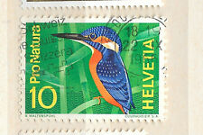posted 22nd september 1966 switzerland kingfisher bird stamp  - see scan