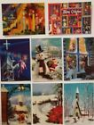 Vintage Christmas 3d Lenticular Photo Postcard Wonder Co. Lot Of 8 Unused Rare