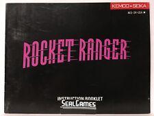 ** Rocket Ranger (Nintendo, NES 1990) Manual Only Instruction Booklet Book