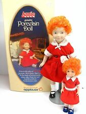 Vtg LITTLE ORPHAN ANNIE Porcelain & Plastic Doll Set LOT  KNICKERBOCKER APPLAUSE