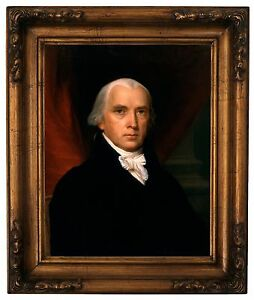 Vanderlyn James Madison Wood Framed Canvas Print Repro 11x14