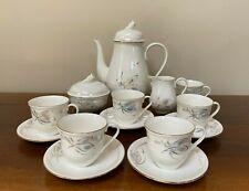 Vintage Jiesia Lithuania Iridescent Porcelain Tea Set