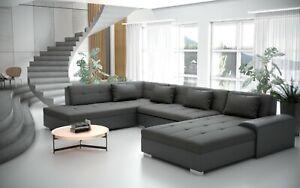 Liberto U Form Schlaffunktion Couchgarnitur Couch Polster Sofa Wohnlandschaft