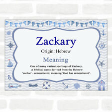 Zackary Name Meaning Nautical Certificate
