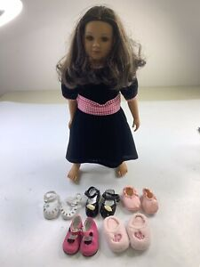 "My Twinn Doll 1997 Doll 23"" Brown Eyes/Hair w/ Shoes & Dress Accessories"