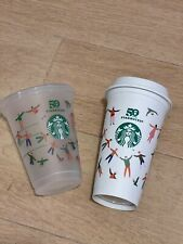 STARBUCKS HONG KONG 2021 (SET OF 2) LIMITED EDITION 16OZ RE USE ABLE CUP