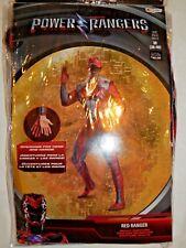 Costume Power Rangers Disguise Red Ranger M Mens Halloween Action Bodysuit New