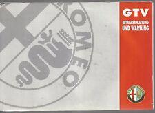 ALFA ROMEO GTV Handbuch manual handbook manuale mode d'emploi 12/1994 60490589