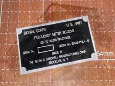 plaque data plate plaquette BC-221 B  RADIO US WW2 JEEP WILLYS FORD GPW