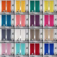 Pair of Essentiel Plain Curtains with Metal Eyelets - 280cm Drop - 19 Colours