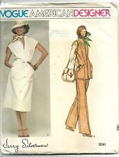 Vogue Sewing Pattern 1241 Jerry Silverman, Vintage Dress Top Pant, Size 10 Uncut