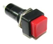 PBS-12 Switch, Latching Red Pushbutton, SPST, Panel Mount, 1A @ 250VAC