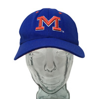 Ole Miss Rebels Colonel Reb Baseball Cap Colosseum Blue Fitted Size 7 3/8 Hat