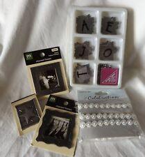 Scrapbook Card Making Metal Eyelet Letters Pewter Frames Embellishments lot 5