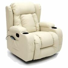 Ivory Leather Armchairs