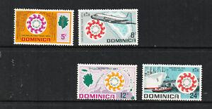 DOMINICA 1969 SET, ANNIV. OF CARIFTA.   M.N.H.