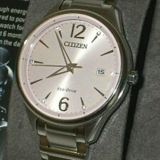 Citizen FE6100-59X Ladies Eco-Drive Pink Dial Stainless Steel Watch