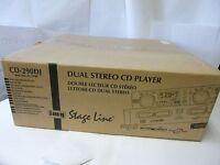 IMG Stage Line CD-290DJ PRO DUAL CD MP3 Player CD 290 DJ 21.2100