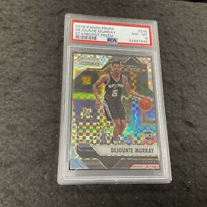DEJOUNTE MURRAY Starburst Rookie Card SSP PSA 8 2016-17 Panini Prizm Basketball