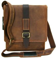 Messenger Bag Real Leather Distressed Tan College Work Uni New Visconti 16159