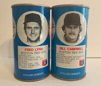 Vintage Lot RC Royal Crown Cola Soda Pop Can Boston Red Sox 12oz Collectible