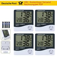 4x Digital Funk LCD Hygrometer Thermometer Temperatur Luftfeuchtigkeit Uhr Datum