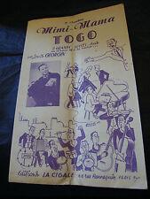Partition Mimi Mama Togo Louis Georgin Music Sheet