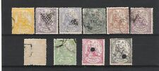 1874 sellos serie  I Republica edifil 143 al 152