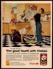 1957 Friskies Dog Food - Douglas Crockwell Art - Bernard/Collie Mix Vintage Ad