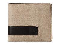 Nixon Showoff Mens Synthetic Leather Khaki Bi-fold Black Wallet