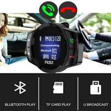 Wireless Bluetooth USB Car Kit LCD SDHC FM Transmitter MP3 Play Magnet Handsfree