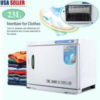 23L Towel Warmer UV Sterilizer Disinfection Hot Heater Cabinet Salon Spa Beauty
