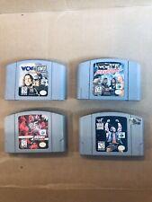 Lot Of 4 Nintendo 64 Games N64 Untested Wwf Wcw wrestling Warzone Revenge Tour