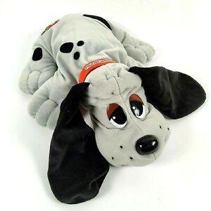 "Vintage Tonka Galoob Pound Puppies Gray Dog Plush 18"" Black Spots Grey 1997"