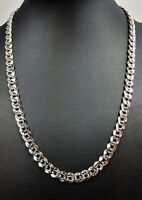 Vintage Silver-tone Chain Necklace Jewellery Signed Napier PAT. 4.774.743 1960s