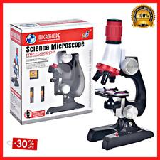 1200x Kit Lab Microscope Led Portable Science For Starter Kids School Bio Class