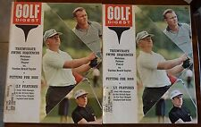 LOT OF (11) GOLF DIGEST MAGAZINES ALL 1963 NICKLAUS PALMER PLAYER