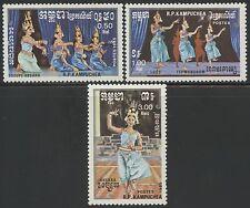 CAMBODGE Kampuchea N°543/545**  Danses 1985, CAMBODIA  Dances Sc#583-585 MNH
