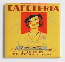 Cafeteria Food FRIDGE MAGNET (2 x 2 inches) sign