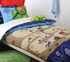 Boy's Treasure Hunter Glow in the Dark DOUBLE Quilt Doona Cover Set