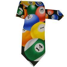 Billards All Over Neck Tie