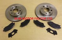 VAUXHALL CORSA C (00-06) 1.0 1.2 1.3 1.4 1.7 FRONT 2 BRAKE DISCS AND PADS SET