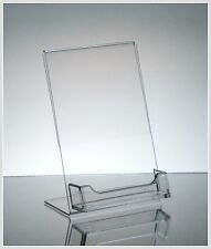 "25 Acrylic 4"" x 6"" Slanted Picture Frame with Business Card Holder"
