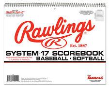 Rawlings Youth Baseball or Softball 20 Game Scorebook ~ 17 Player Lines ~ New!